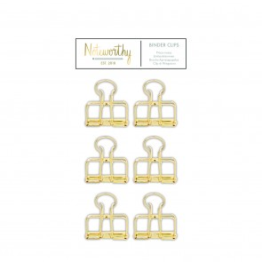 Binder Clips (6pcs) - Metallic Mono