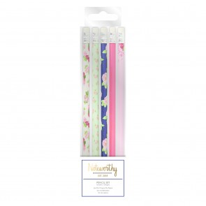 Pencil Set (5pcs) - Graphic Florals