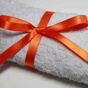 Double Face Satin Ribbon 6mm Orange (25 Metres)