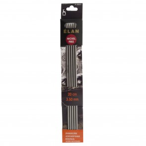 Elan: Knitting Pins: Stainless Steel: Double-Ended (Set of 5): 20cm x 3.50mm