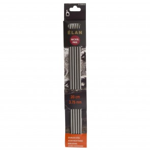 Elan: Knitting Pins: Stainless Steel: Double-Ended (Set of 5): 20cm x 3.75mm