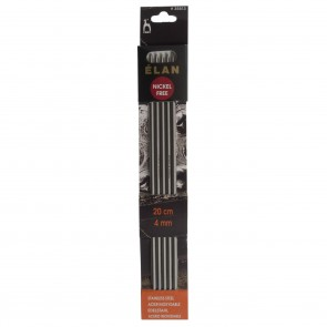 Elan: Knitting Pins: Stainless Steel: Double-Ended (Set of 5): 20cm x 4.00mm