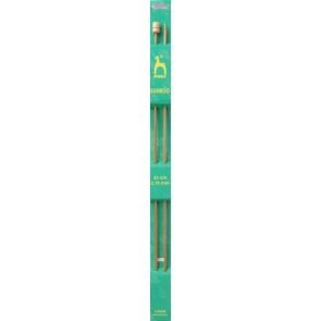 Bamboo: Knitting Pins: Single Ended: 33cm x 2.75mm