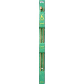 Bamboo: Knitting Pins: Single Ended: 33cm x 3.00mm