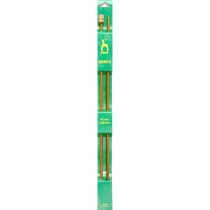 Bamboo: Knitting Pins: Single Ended: 33cm x 4.50mm