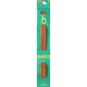Bamboo: Knitting Pins: Sets of 5: Double Ended: 20cm x 2.75mm
