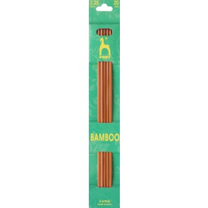Bamboo: Knitting Pins: Sets of 5: Double Ended: 20cm x 3.25mm
