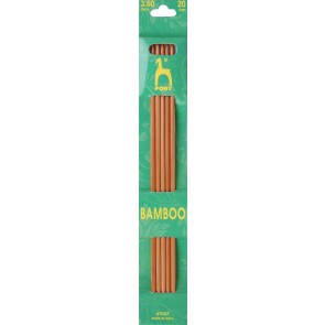 Bamboo: Knitting Pins: Sets of 5: Double Ended: 20cm x 3.50mm