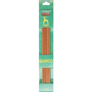 Bamboo: Knitting Pins: Sets of 5: Double Ended: 20cm x 4.00mm
