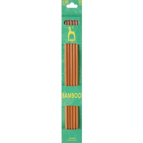 Bamboo: Knitting Pins: Sets of 5: Double Ended: 20cm x 4.50mm