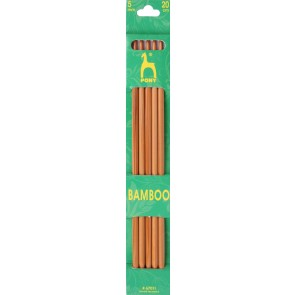 Bamboo: Knitting Pins: Sets of 5: Double Ended: 20cm x 5.00mm