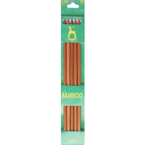 Bamboo: Knitting Pins: Sets of 5: Double Ended: 20cm x 5.50mm