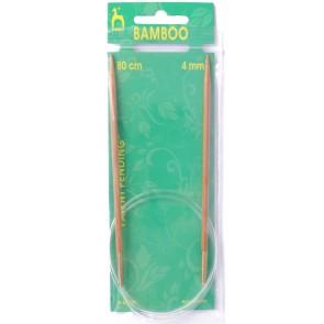 Bamboo: Knitting Pins: Circular: Fixed: 80cm x 4.00mm
