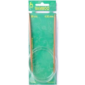 Bamboo: Knitting Pins: Circular: Fixed: 80cm x 4.50mm