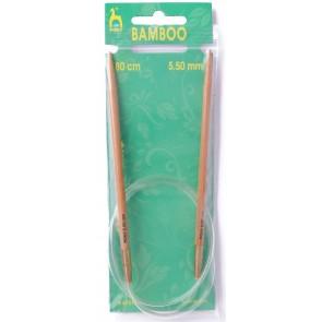 Bamboo: Knitting Pins: Circular: Fixed: 80cm x 5.50mm