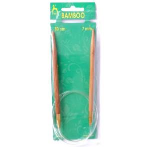Bamboo: Knitting Pins: Circular: Fixed: 80cm x 7.00mm
