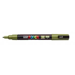 PC-3M POSCA Marker Fine Bullet Tip Khaki Green
