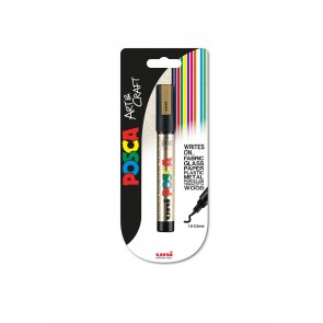 PC-5M POSCA Marker Medium Bullet Tip 1pc Blister Gold