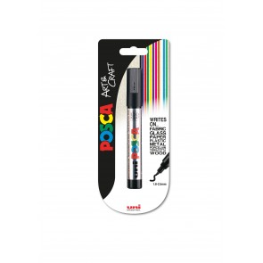 PC-5M POSCA Marker Medium Bullet Tip 1pc Blister Silver
