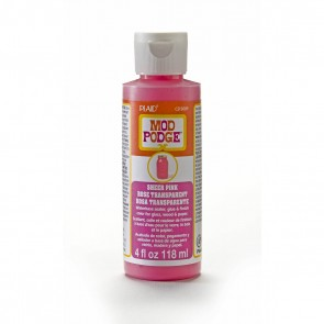 Mod Podge Sheer Colour Pink 4oz