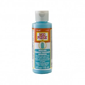 Mod Podge Sheer Colour Aqua 4oz