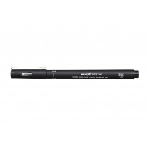 PIN06-200 uni PIN Fine Line 0.6mm Drawing Pen Black