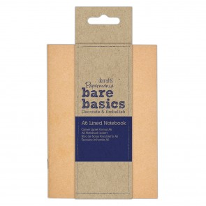 Kraft Cover Lined Notebook (A6) - Bare Basics