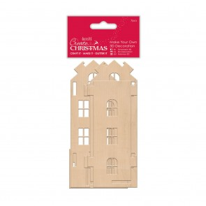 Make Your Own 3D Decoration - Tall Wooden House