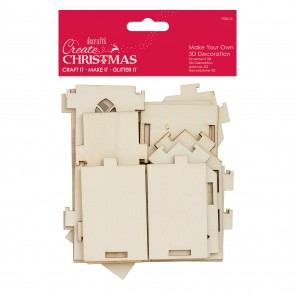 Make Your Own 3D decoration - Wooden Church - Create Christmas