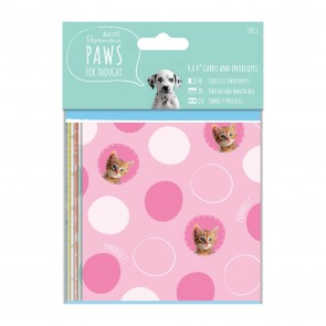 "4 x 4"" Cards & Envelopes - Paws for Thought"
