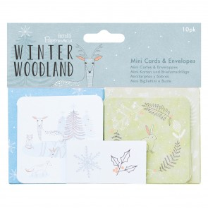 Mini Cards & Envelopes (10pk) - Winter Woodland