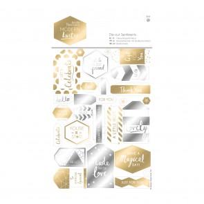 Die-cut Sentiments (2pk) - Modern Lustre