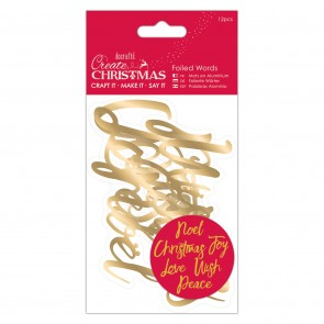 Foiled Words (12pcs) - Gold
