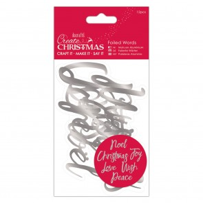 Foiled Words (12pcs) - Silver