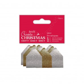 Mini Glitter Envelopes (10pcs) - Create Christmas