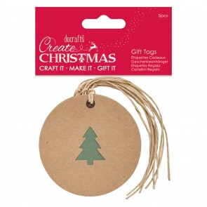 Silhouette Kraft Gift Tag (5pcs) - Tree - Create Christmas