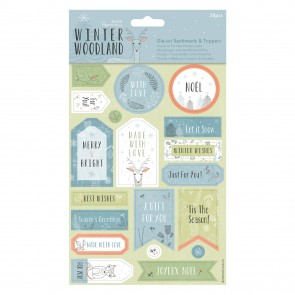 Die-cut Sentiments & Toppers (32pcs) - Winter Woodland