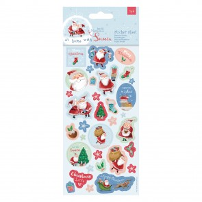 Sticker Sheet (30pcs) - At Home with Santa