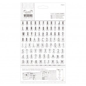 "5 x 7"" Clear Stamps (252pcs) - Alphas & Numbers"