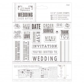 "6 x 6"" Clear Stamps - Sentiments"