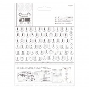 """5 x 5"""" Clear Stamps - Mini Alphas & Numbers"""