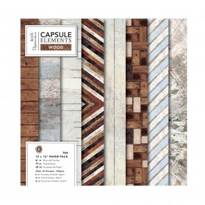 "12 x 12"" Paper Pack (36pk) - Elements Wood"
