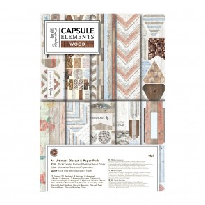 A4 Ultimate Die-cut & Paper Pack (48pk) - Elements Wood