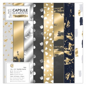 "12 x 12"" Paper Pack (36pk) - Elements Metallics"