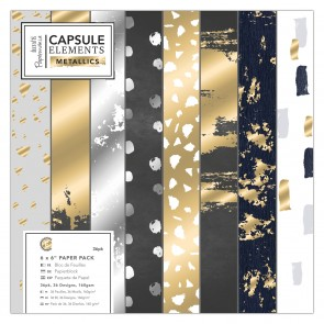 "6 x 6"" Paper Pack (36pk) - Elements Metallics"
