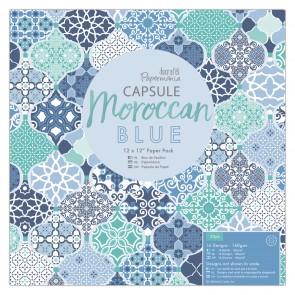 """12 x 12"""" Paper Pack (32pk) - Capsule - Moroccan Blue"""