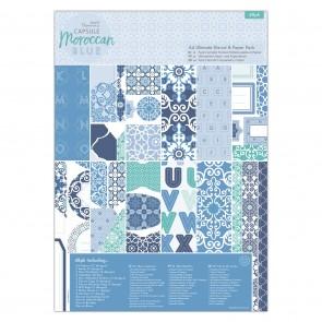A4 Ultimate Die-cut & Paper Pack (48pk) - Capsule - Moroccan Blue