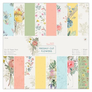 "12 x 12"" Paper Pack (32pk) - Freshly Cut Flowers"