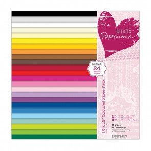 12 x 12'' Coloured Paper Pack (48pk)