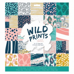 "12 x 12"" Paper Pad (50pk) - Wild Prints"